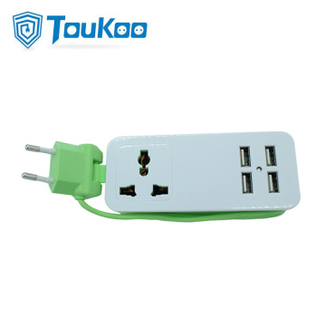 4 USB ports universal travel extension socket