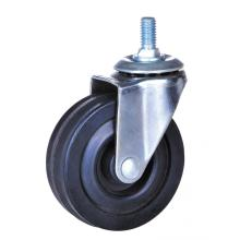 Hot-selling for China Rubber Stem Caster,Rigid Caster,Hard Rubber Wheel Supplier 63mm rubber swivel caster supply to Ireland Supplier