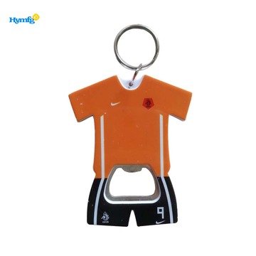 Plastic T-Shirt Shaped Beer Bottle Opener With Keychain