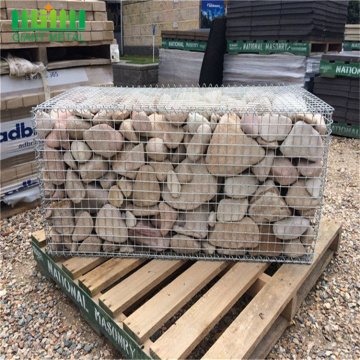 welded gabion retaining wall and rockwelded fence