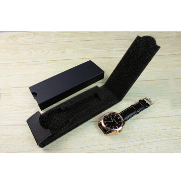 Wholesale Foldable Black Paper Watch Packaging Box