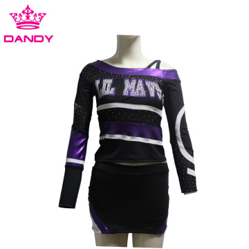 Mystique Off-Shoulder Cheerleading Clothing