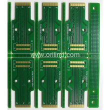 Immersion gold and gold tabs circuit board