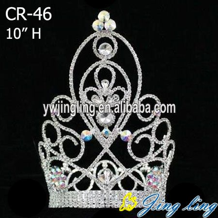 hot sale style rhinestone large pageant crown