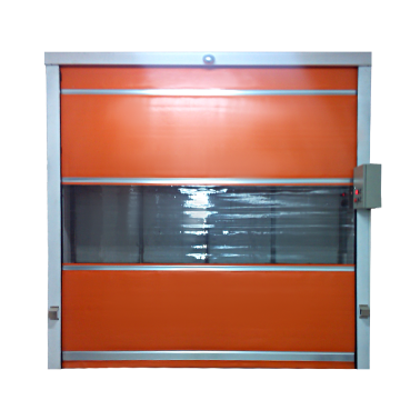 Flexible rapid self-repairing roll-up door