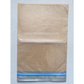 Kraft And Plastic Envelope With Zipper