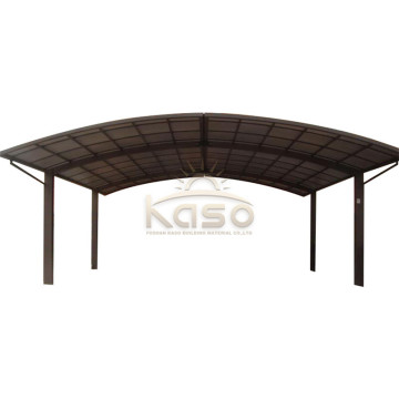 Poland Polycarbonate Aluminium Carport With Skylight Roof
