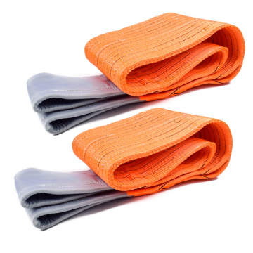 12 Ton 9M Or OEM Length 300MM Width Synthetic 9T Webbing Lifting Belt Sling Orange Color code Safety Factor 8:1 7:1 6:1