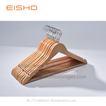 China Gold Supplier for for Wooden Hotel Hangers EISHO Wood Suit Hanger With Trouser Bar supply to United States Factories