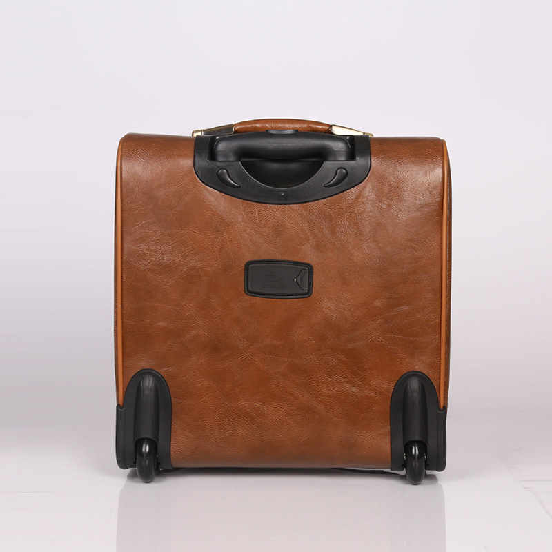 PU trolley travel luggage