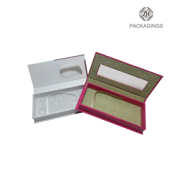 PVC window folding custom eyelash packaging box