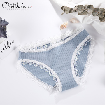 Hot sexy cotton briefs panty lace underwear