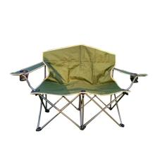 Loveseat double Folding Camping Chair with Cup Holder