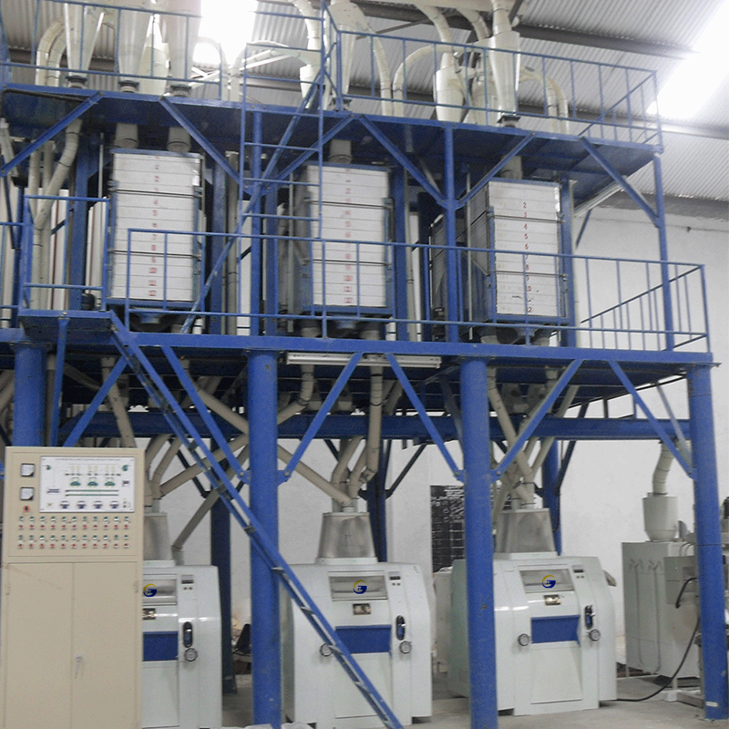Maize flour processing plant