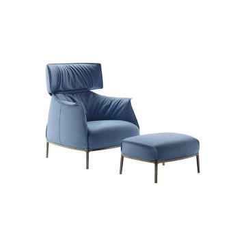 Europe style for for Replica Gubi Beetle Lounge Chair Modern Archibald Single Sofa with ottoman export to Italy Suppliers