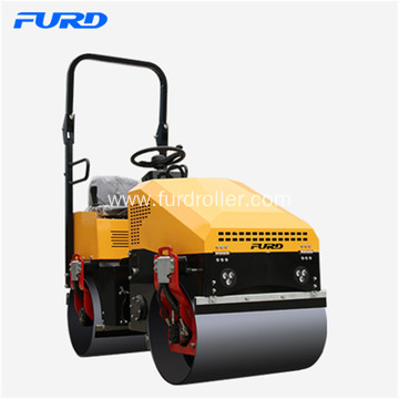 1 ton Small Double Drum Vibratory Roller Compactor