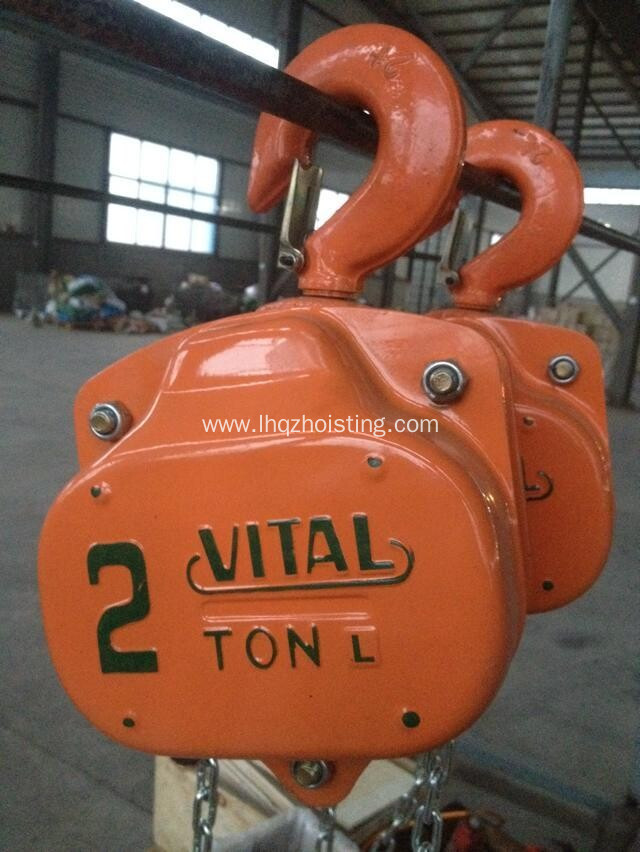 VT series hand operating elephant chain hoist