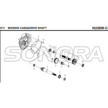 E11 MISSION CASE&DRIVE SHAFT for HU05W-C MIO 50 Spare Part Top Quality