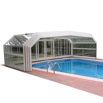 Auto Aluminium Roofing Cover Clear Swimming Pool Roof