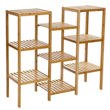 Bamboo Customizable Plant Stand Shelf Flower Pots Holder Display Rack 9-Tier Storage Rack