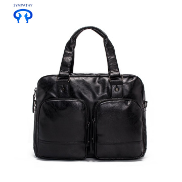 Pu traveling bag has large capacity