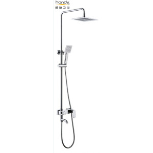 Brass Wall-Mouned  Two Holds Shower Set