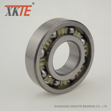 Molded 6/6 Nylon Cage Bearing For Mining Conveyor Idler