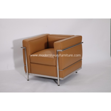China for Stainless Steel Sofa Le corbusier LC2 leather sofa supply to Netherlands Exporter