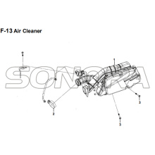 F-13 Air Cleaner for XS175T SYMPHONY ST 200i Spare Part Top Quality