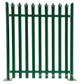 PVC palisade garden fence/vinyl lawn edging palisade fence