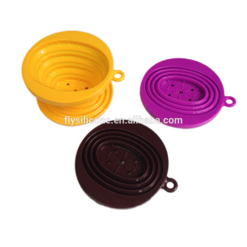 Renewable Design for Single Cup Coffee Filter BPA free heat resistant Silicone coffee infuser collapsible supply to Guinea-Bissau Exporter