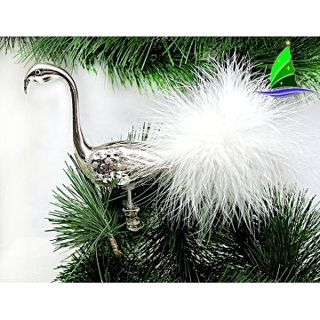 glass printed flamingo ornaments for Christmas decoration