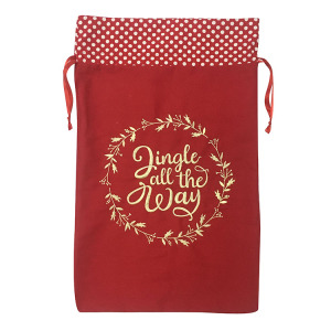 Quality Inspection for Christmas Sack,Personalised Christmas Sack,Large Christmas Sacks Manufacturer in China Christmas embroidered present sack supply to South Korea Manufacturers