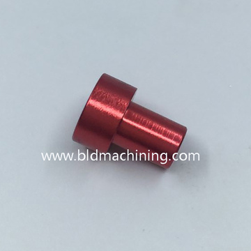 Precision Turned Red Anodized Aluminum Bike Parts