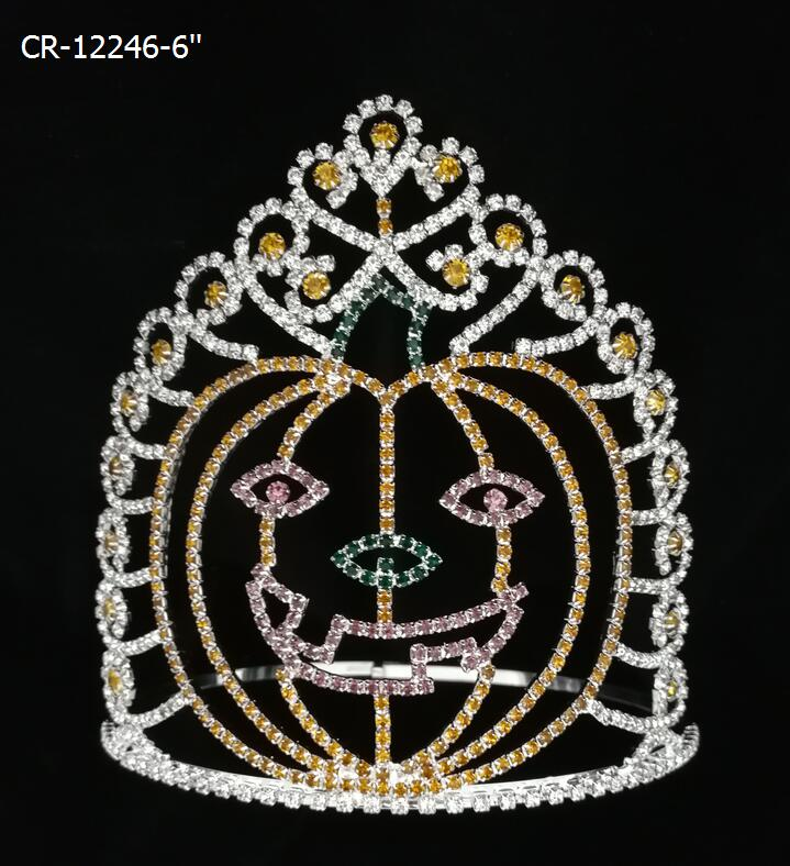Large Holiday Halloween Pageant Crowns Pumpkin Tiaras