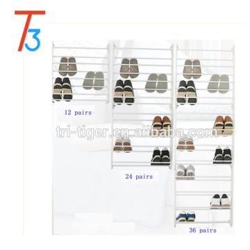 12 Pairs 4 Tiers Over the Door Shoe Rack wall hanging