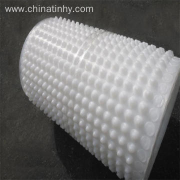 Plastic dimple drainage board for basement waterproofing