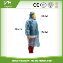 Disposable Rain Poncho One Time PE Poncho