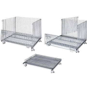 Foldable Galvanized Wire Mesh Storage Container