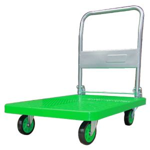 300kgs Plastic Platform Folding Hand Trolley(Green)