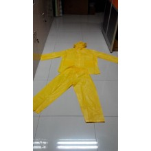 Good Quality for for PVC Poncho Black Waterproof PVC Coated Rain Suit supply to Singapore Exporter