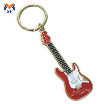 Metal custom mini guitar shape keychain
