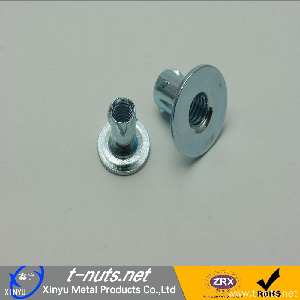 Furniture Zinc Plated Steel Propeller Nuts M6