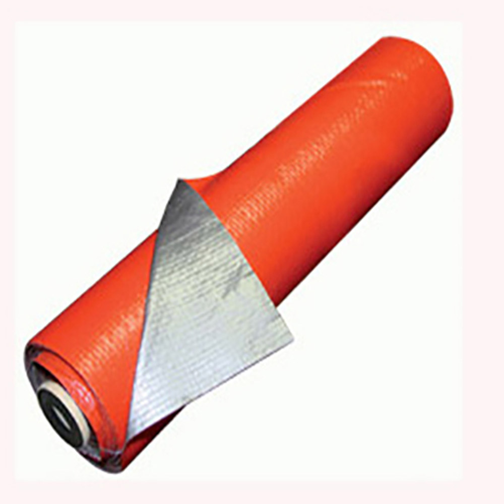 Orange Silver Tarpaulin Roll