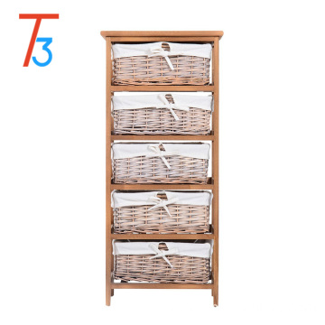 multi drawer Paulownia wooden dressing storage cabinet