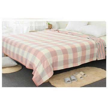 Gauze Cotton Blanket Jacquard with Waffle Pattern