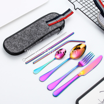 Outdoor Camping Portable Travel Stainless Steel Cutlery