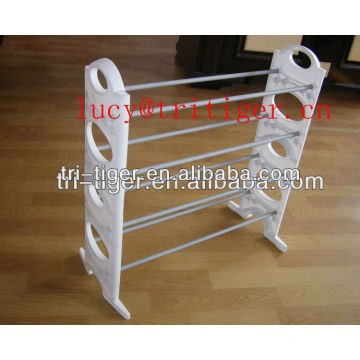 4 tier extendable stackable shoe rack/standing shoe rack