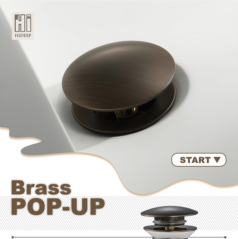 Bronze Pop Up Drain