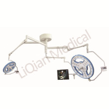 Hollow shadowless surgical lamp with camera